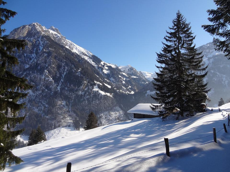 Winter, Mountain Landscape, Snow