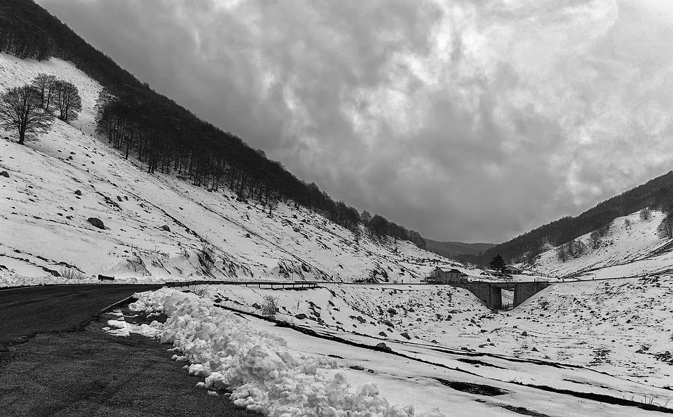 Winter, Mountain, Italy, Abruzzo, Lazio, Cold, Snow