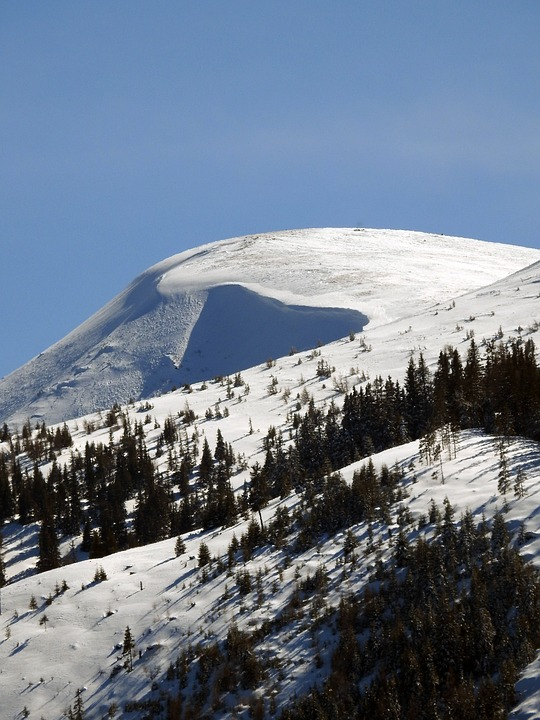 Mountain, Snow, Loose Snow Avalanches, Alpine, Winter
