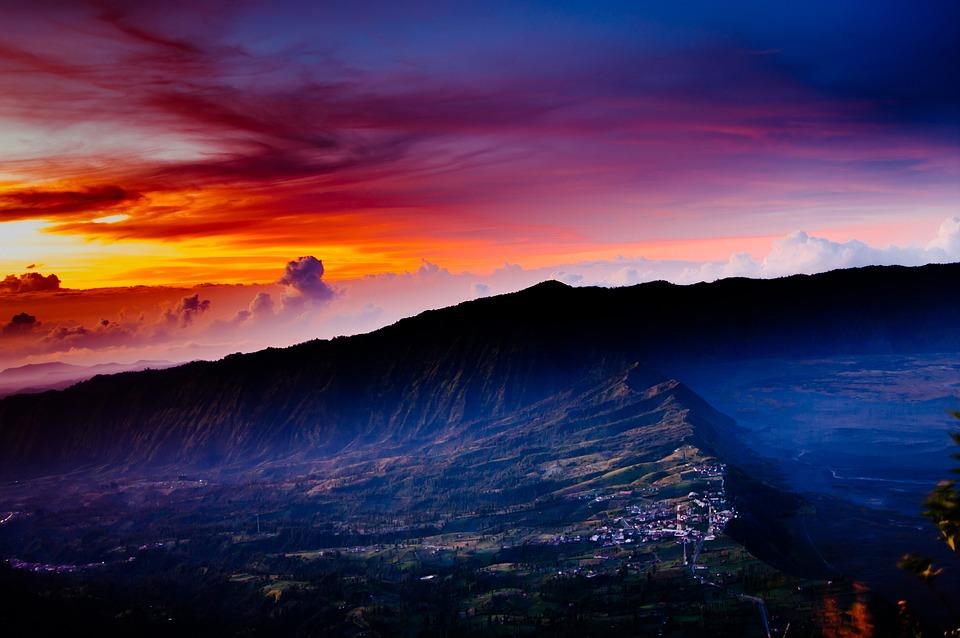 Mount Bromo, Indonesia, Sunrise, Mountain