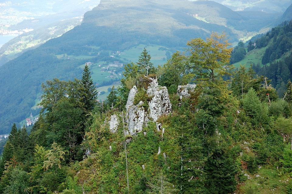 Rock, Mountains, Klewenalp, Switzerland, View, Mountain