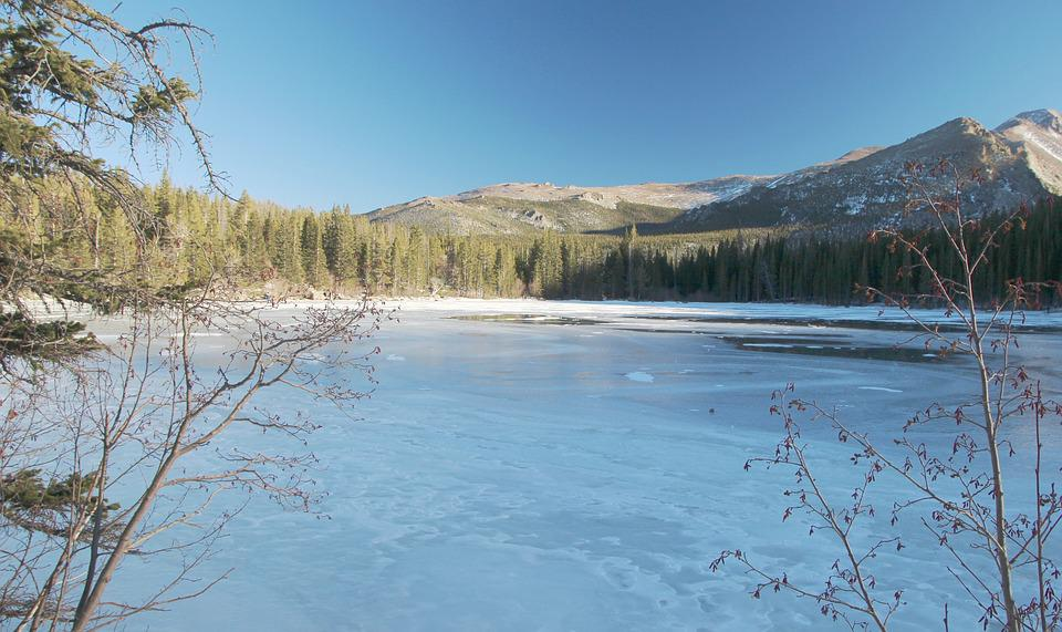 Icy Lake, Snow, Mountain, Winter, Natural, Freeze