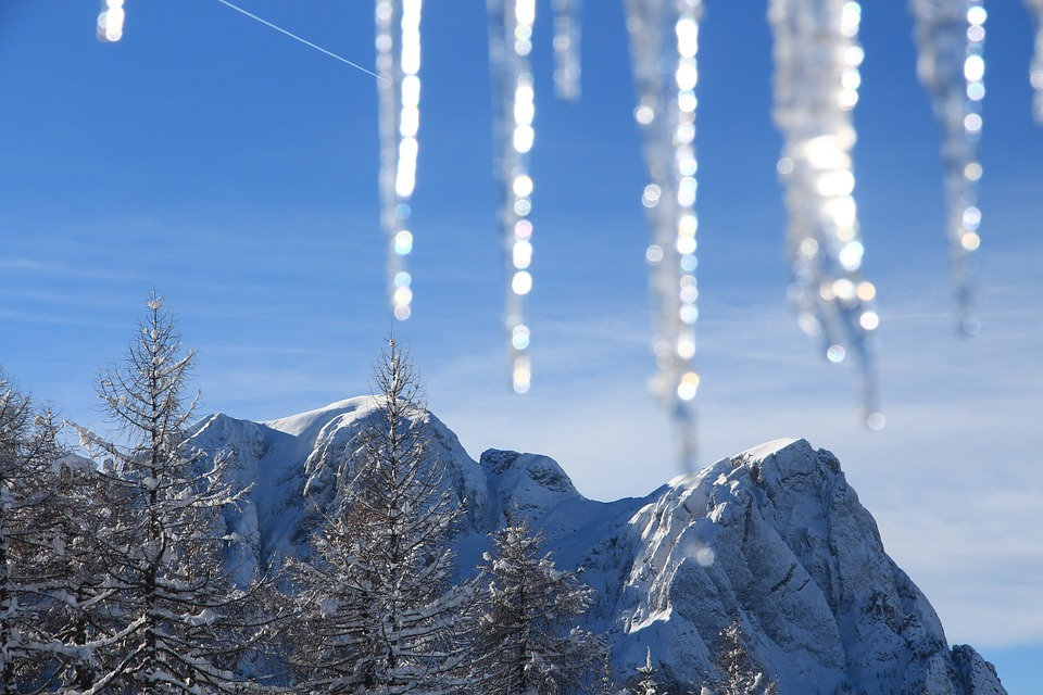Snow, Mountain, Winter, Cold, Light, White, Nature, Ice