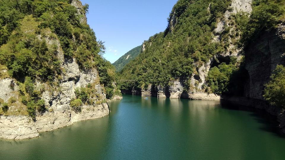 Lake Of Arsiè, Landscape, Mountain, Nature