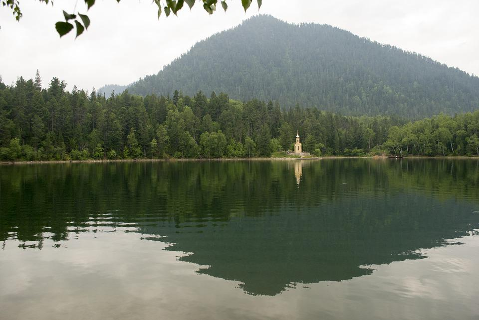 Lake, Emerald, Landscape, Nature, Mountain, Forests