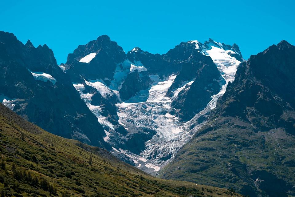 Mountain, Alps, The Mege Glacier, Nature