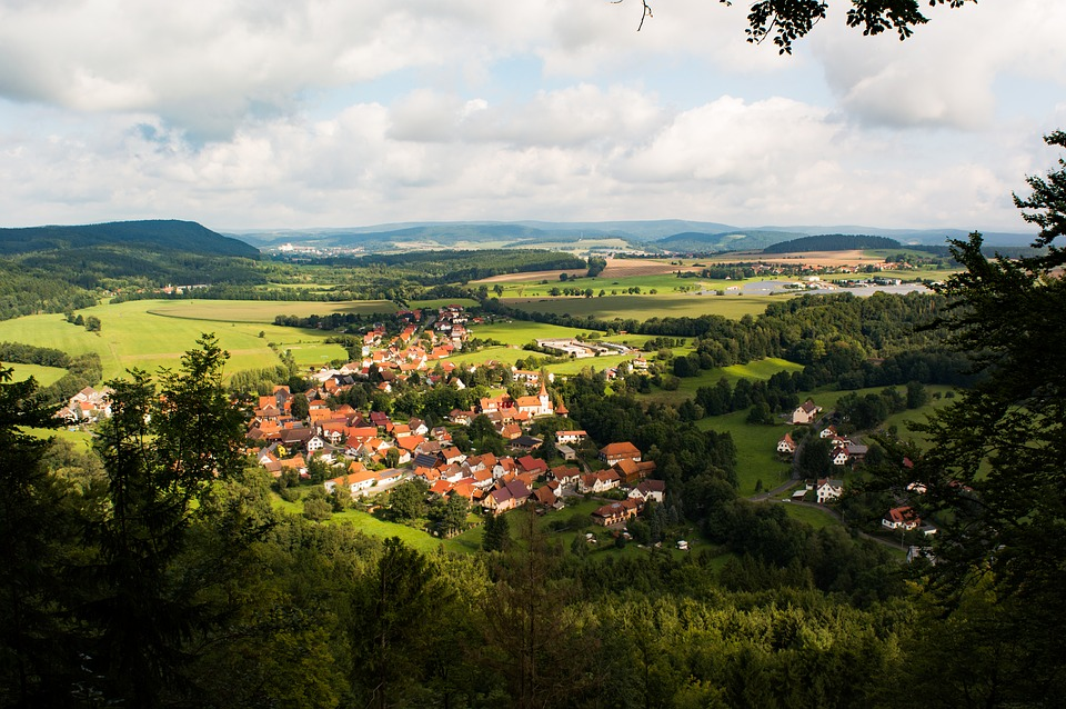 Nature, Green, Village, Mountain, View, Germany