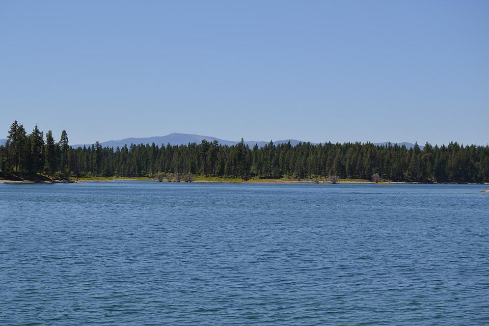 Lake, Mountain, Water, Summer, Forest, Trees, Outdoor