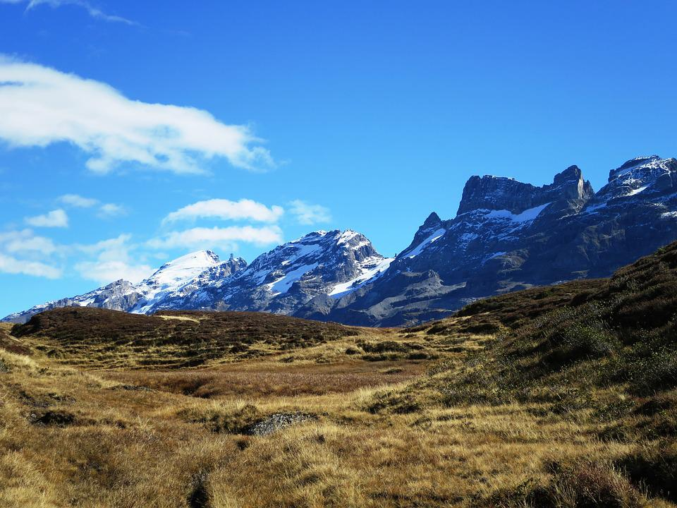 Mountain Panorama, Switzerland, Mountain Landscape