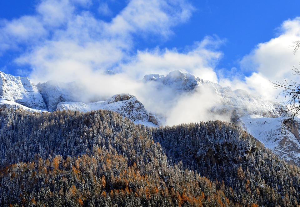 Nature, Snow, Mountain, Landscape, Panorama