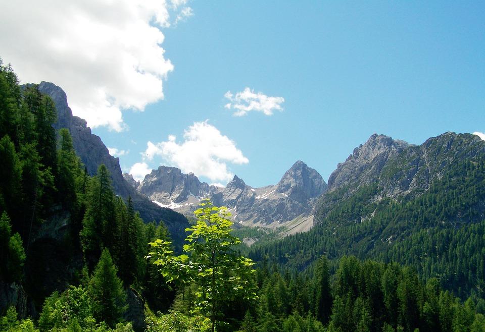 Landscape, Alpine Mountains, Mountain Peaks