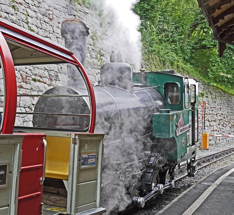 Steam Locomotive, Mountain Railway, Brienz