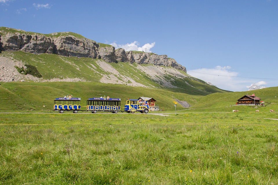 Tourist Train, Mountain Railway, Melchsee-frutt
