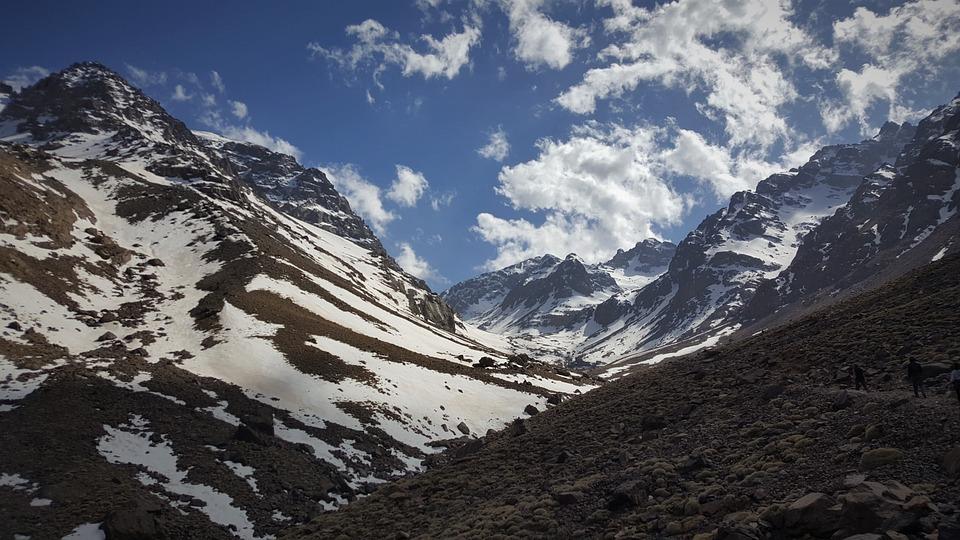 Mountains, Snow, Mountain Range, Clouds, Mountaineers