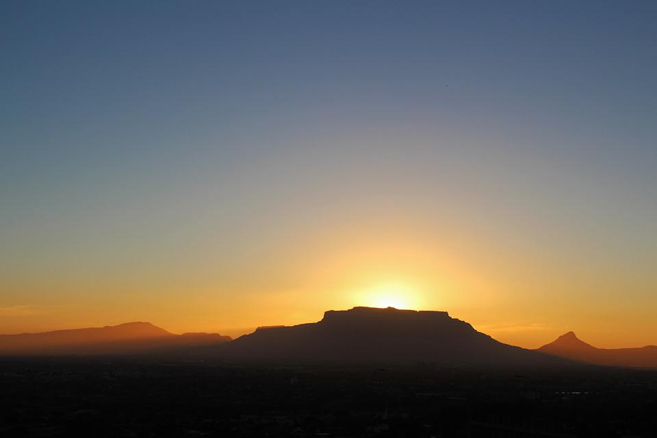 Table Mountain, Sunset, Mountain Range, Cape Town