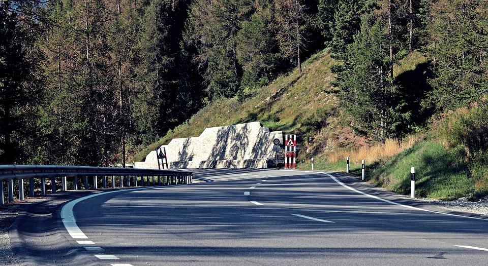 Road, Mountain Road, Bergstrasse, Mountain, Nature