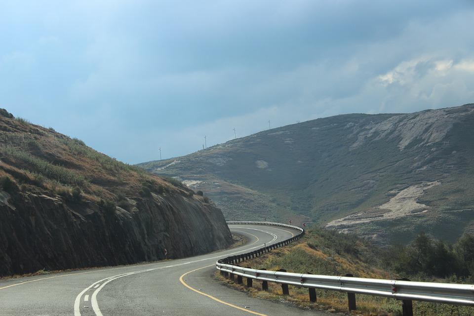 Mountain Road, Hill Road In South Africa