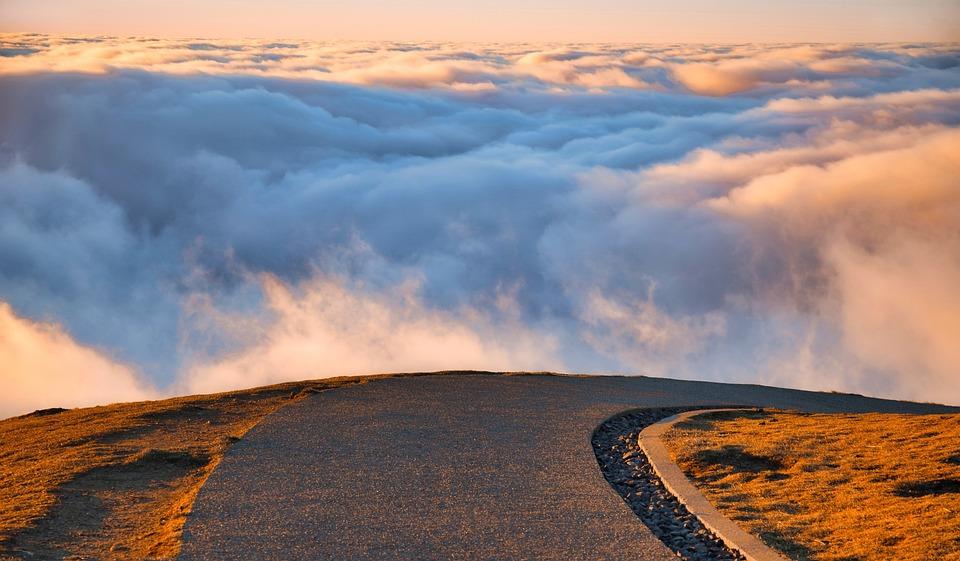 Landscape, Sky, Cloud, Mountain, Road, Path, Sunset