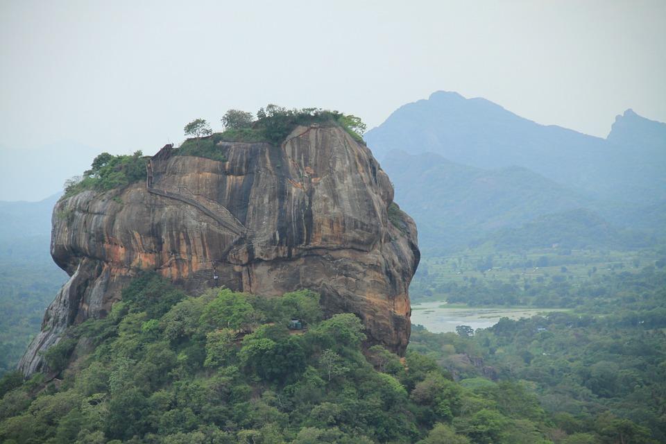 Sigiriya, Asia, Sri Lanka, Tourism, Mountain, Rock