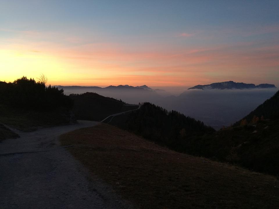 Sky, Nature, Sunset, Clouds, Mountain, Landscape