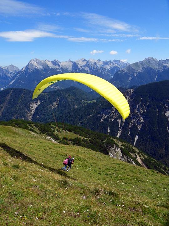Sport, Paragliding, Mountain Sport, Mountain, Parachute
