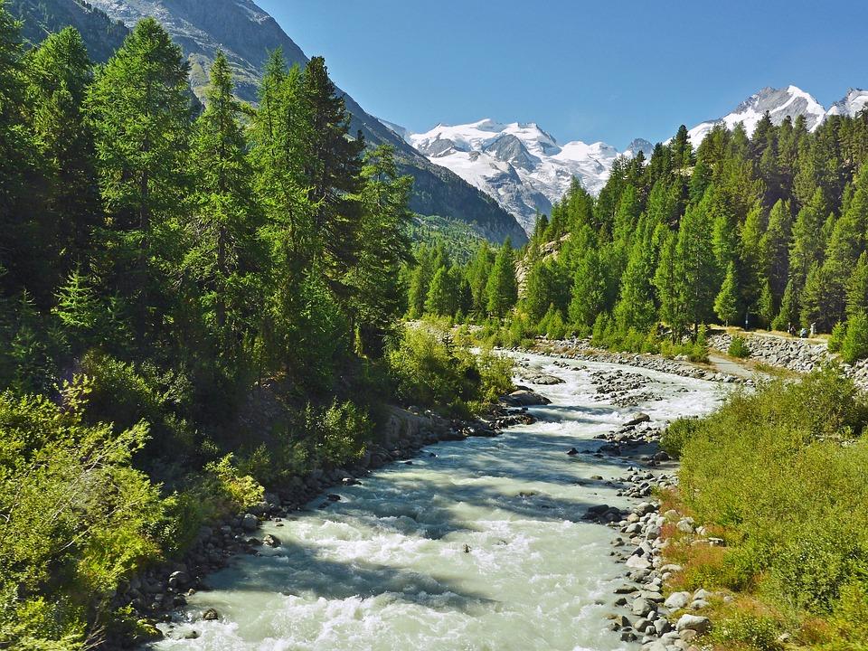Mountain Spring, Glacier Water, Alpine, Switzerland