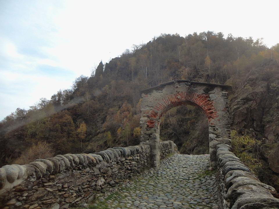Bridge, Stone, Ancient, Stone Bridge, River, Mountain