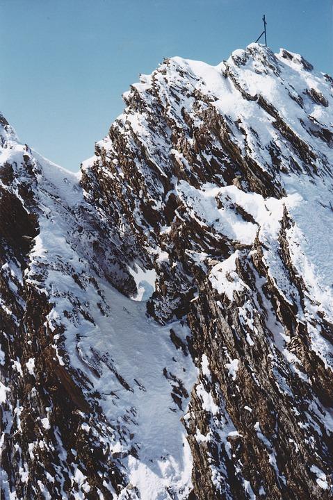 Nadelhorn, Mountain, Summit, Hole In The Summit