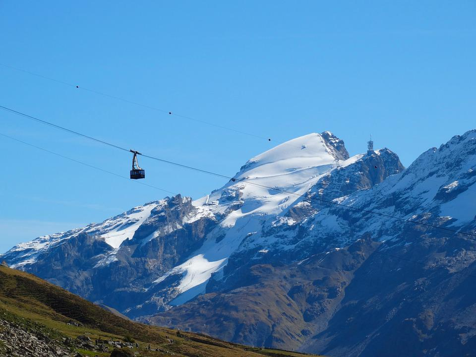 Mountain Railway, Mountain Summit, Snow Mountains