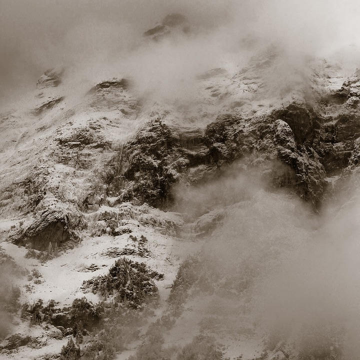 Mountains, Mountain, Switzerland, Alpine, Snow, Fog