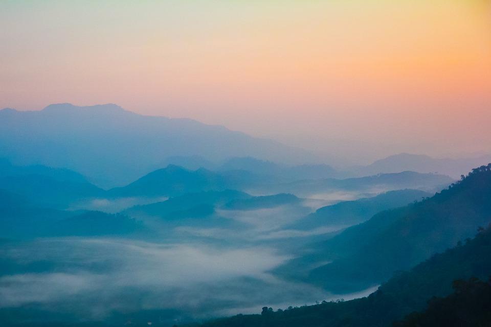 Mountain, Sunset, Adventure, Landscape, Mountain Top
