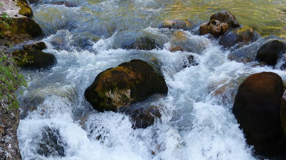 Water, Torrent, Water Courses, Mountain, Nature