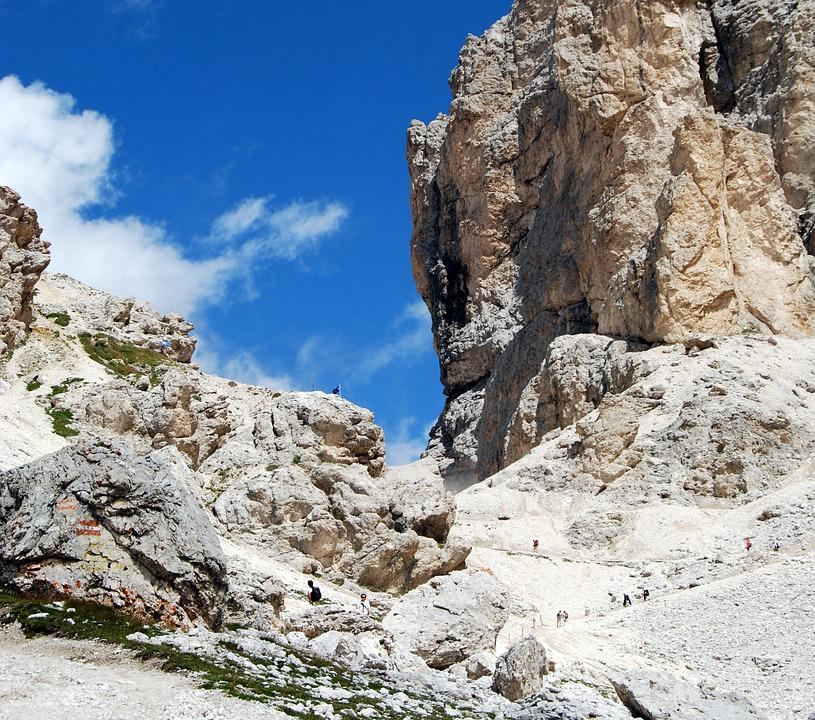 Dolomites, Hiking, Deadbolt, Trail, Mountain, Sky