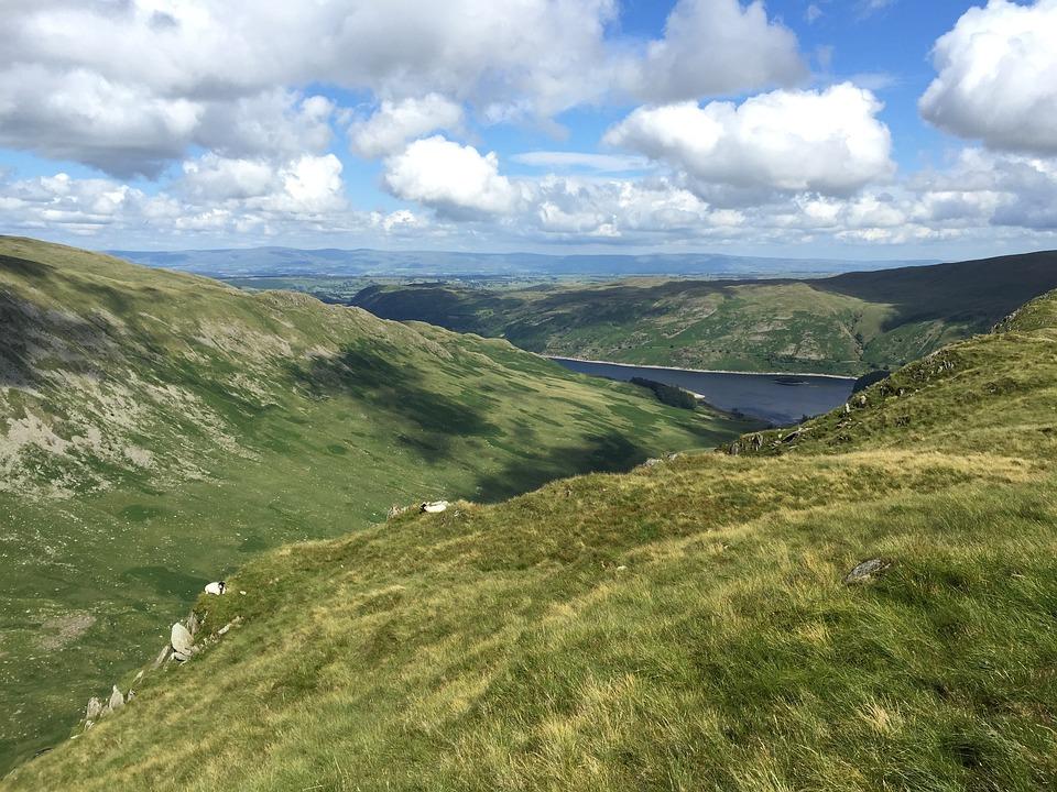 Vista, Mountain, Lake, Uk, England, Summer, Holidays