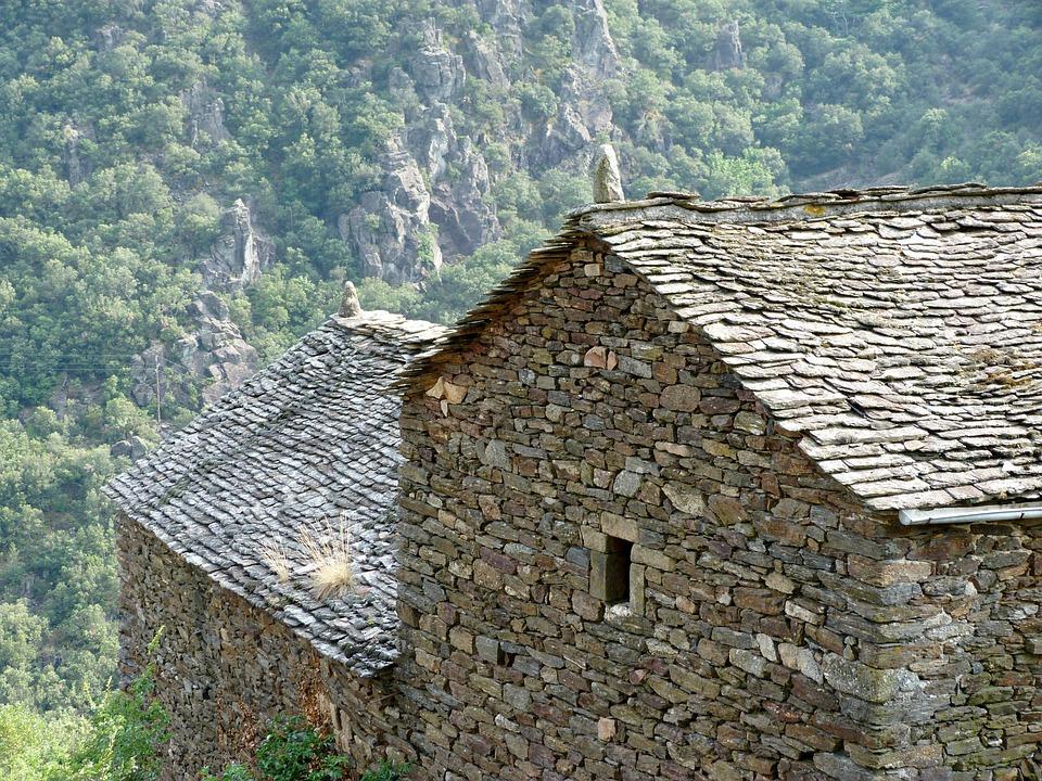 Houses, Mountain Village, Old Village, Rustiquefrance