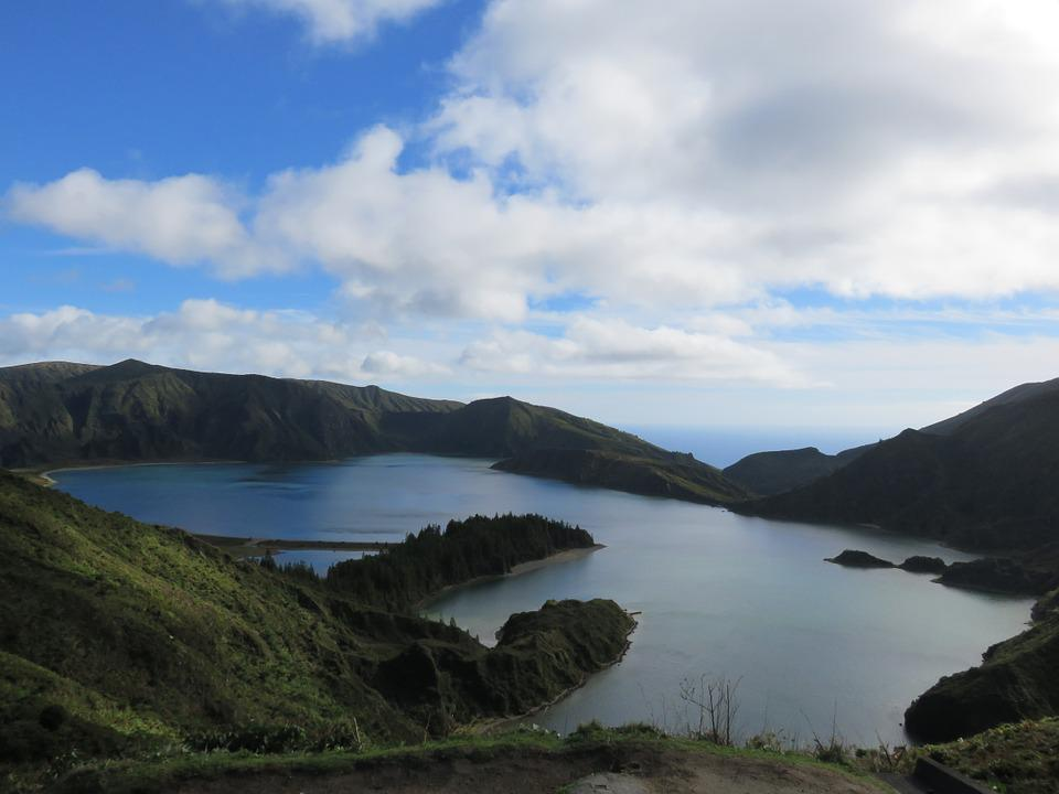Lake, Volcano, Crater, Mountain, Landscape, Crater Lake
