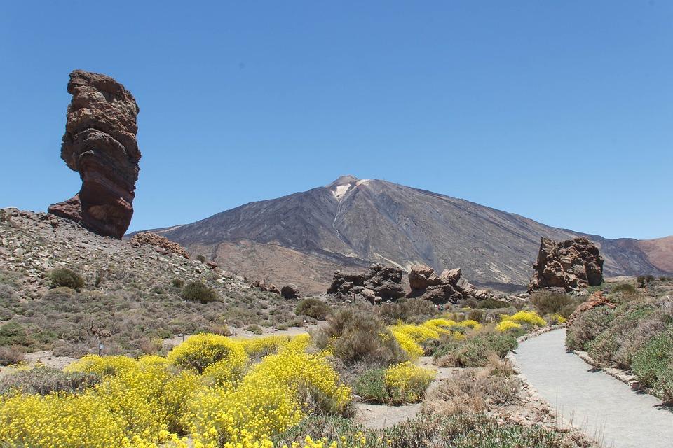 Teide, Tenerife, Spain, Crater, Volcano, Mountain