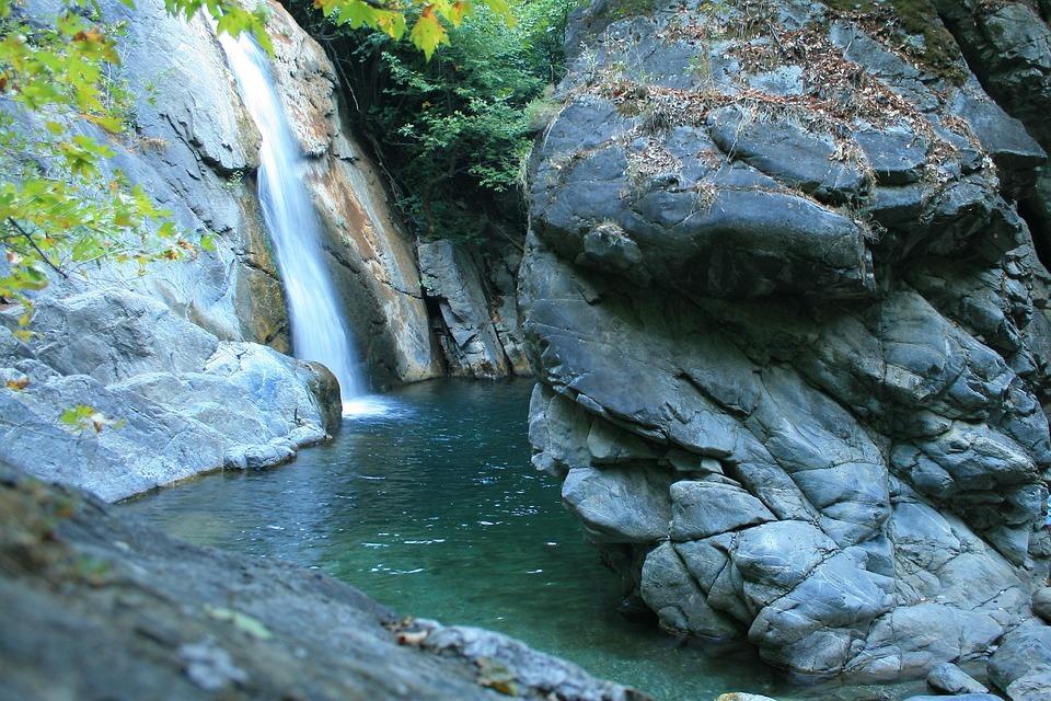 Mount Ida, Waterfall, Water, Mountain, Landscape