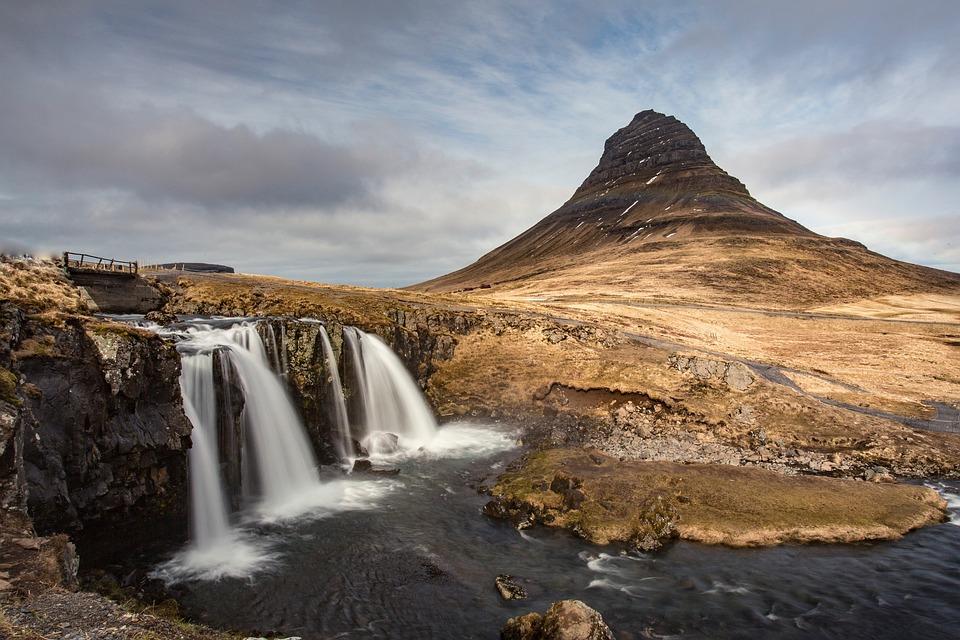 Waterfalls, Mountain, Nature, Landscape, Hill, Rocks