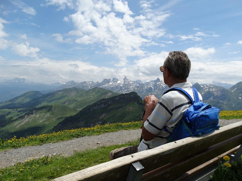 Bench, Foresight, Mountain World, Distant View, Rest