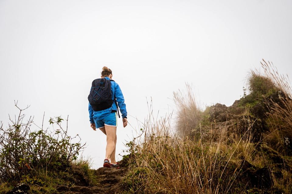 Woman, Hiking, Mountaineer, Hiker, Mountaineering