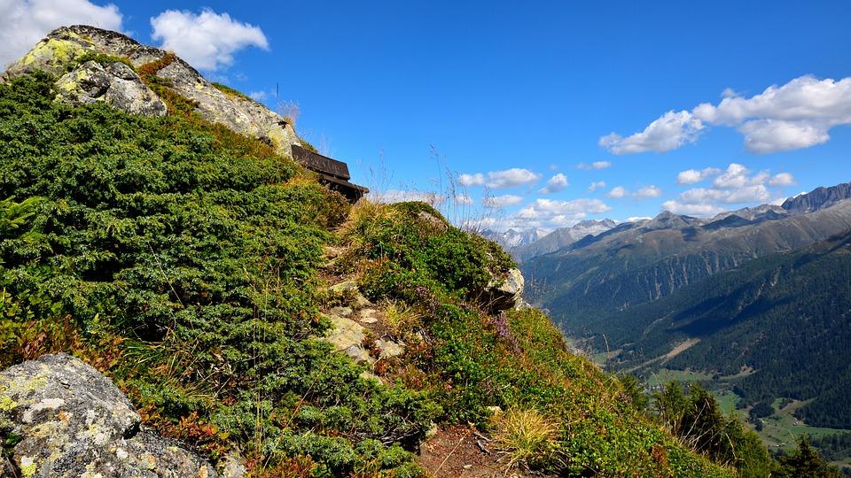 Bank, View, Mountains, Landscape, Away, Alpine, Nature