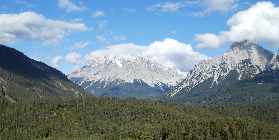 Zugspitze, Brenner Pass, Mountains, Alpine