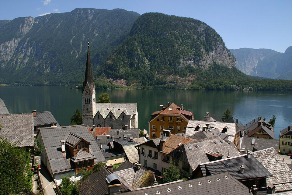 Hallstatt, Austria, Lake, Mountains, Water, Village