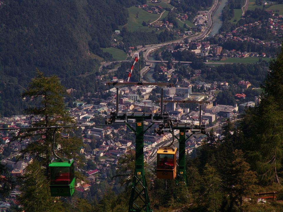 City, Bad Ischl, Landscape, Mountains, Austria
