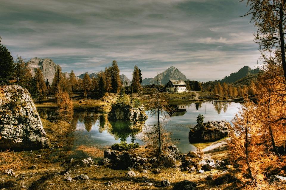 Bergsee, Dolomites, Lago Federa, Alpine, Mountains
