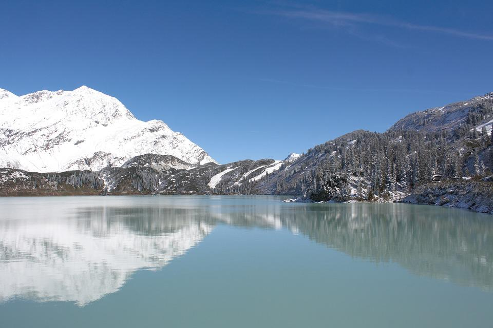 Bergsee, Mirroring, Reservoir, Mountains