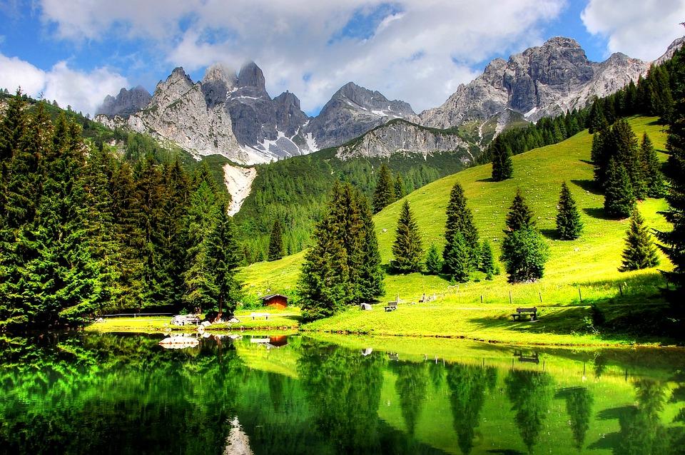 Bischofsmütze, Dachstein, Alpine, Mountains, Panorama