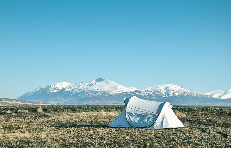 Camp, Mountains, Iceland, Scenic, View, Landscapes