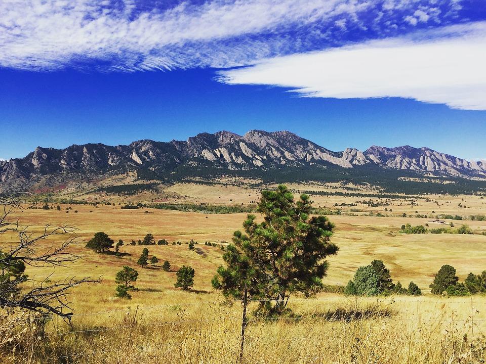 Mountains, Landscape, Blue Sky, Clouds, Nature